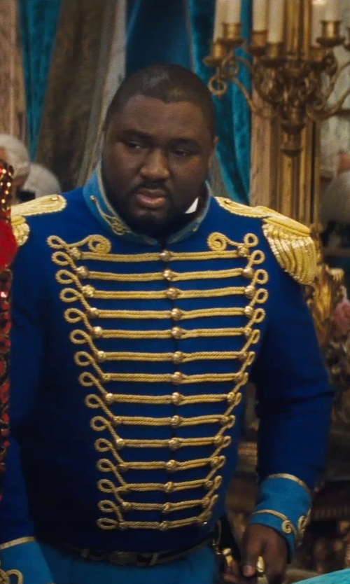 Nonso Anozie with Sandy Powell (Costume Designer) Custom Made 18th Century Hussar Military Uniform (Captain) in Cinderella