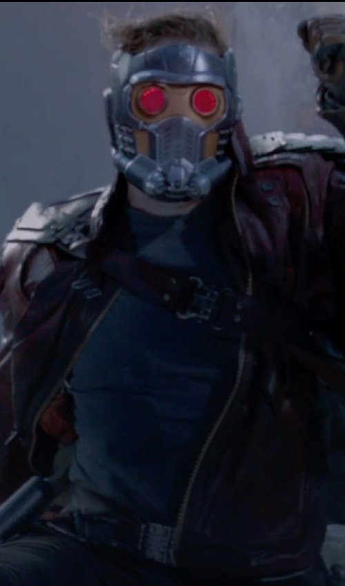 Chris Pratt with Stone Island Long Sleeve Sweater in Guardians of the Galaxy