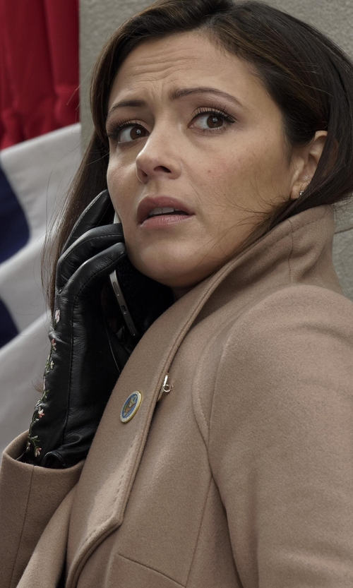 Italia Ricci with Club Monaco Vidita Embroidered Gloves in Designated Survivor