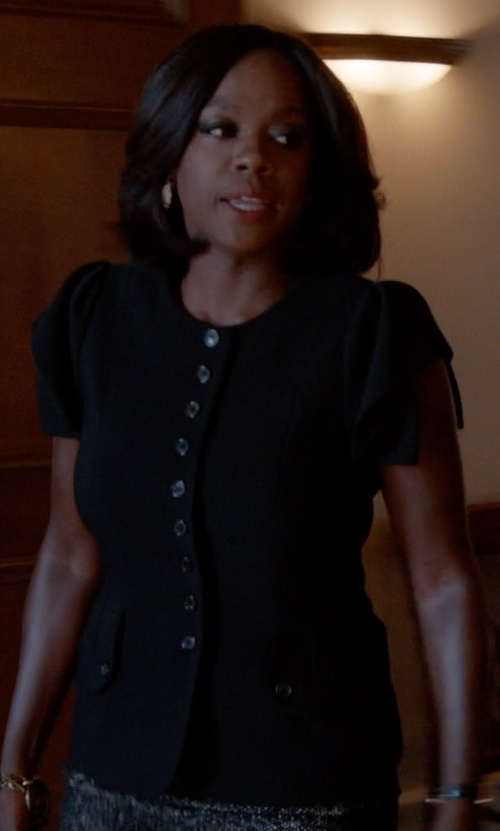Viola Davis with Annarita N. Round Collar Shirt in How To Get Away With Murder