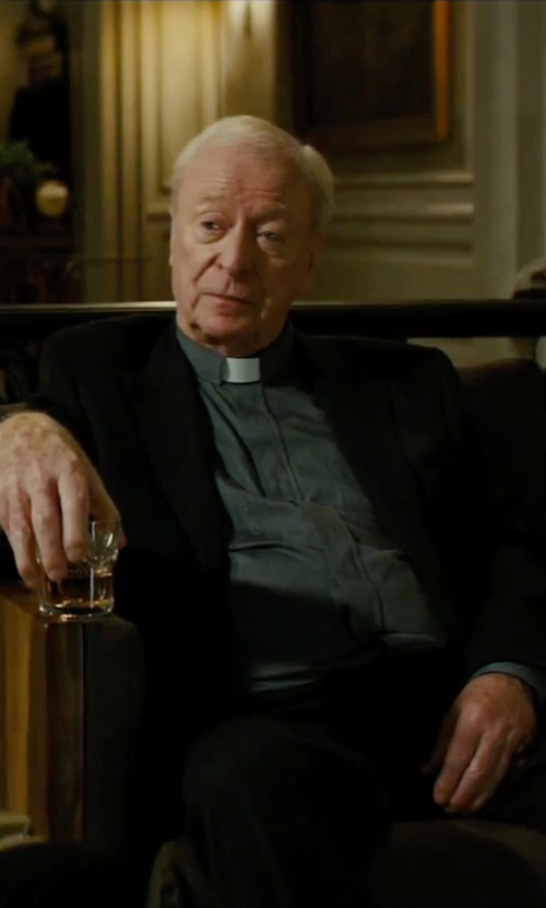 Michael Caine with Murphy Long Sleeve Tab Collar Clergy Shirt in The Last Witch Hunter