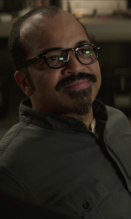 Jeffrey Wright with Oliver Peoples NDG-1 Optical Glasses in The Hunger Games: Mockingjay Part 1