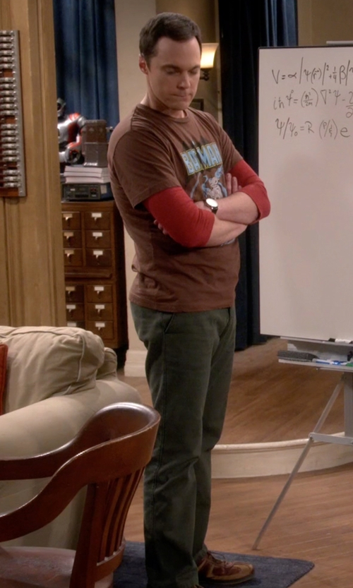 Jim Parsons with Rockport City Trails Stripe Lace Up Shoes in The Big Bang Theory