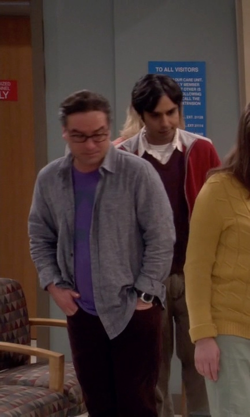 Johnny Galecki with Suunto X-Lander Wrist-Top Computer Watch in The Big Bang Theory