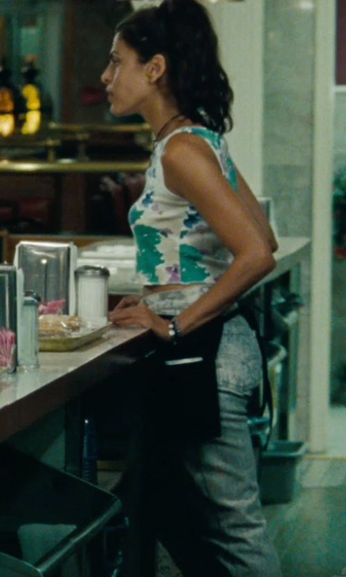 Eva Mendes with Gypsy05 Voile Printed Cropped Tank Top in The Place Beyond The Pines