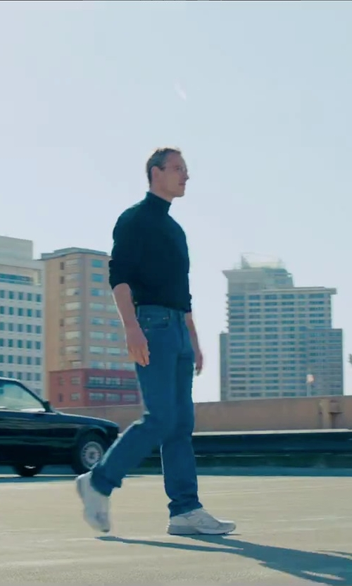 Michael Fassbender with New Balance M990v3 Running Shoes in Steve Jobs