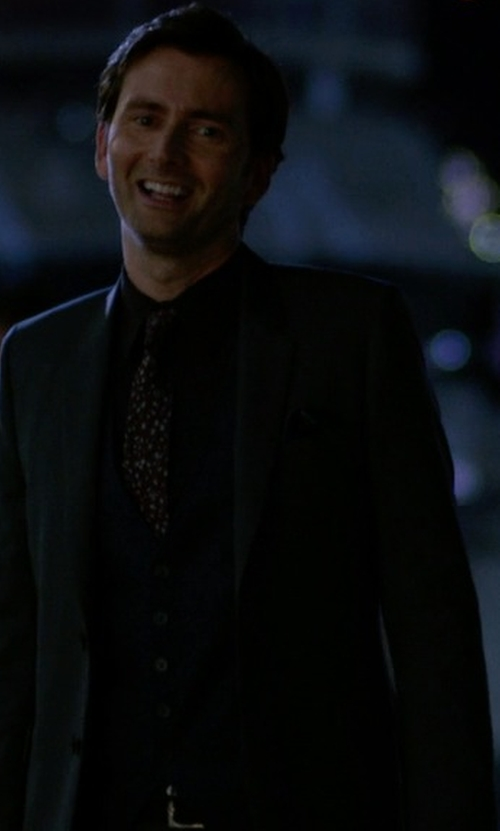 David Tennant with Pure High-Contrast Dotted Silk Tie in Jessica Jones
