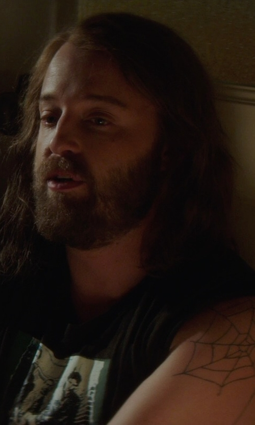 Joshua Leonard with Forever 21 Michael Jackson Muscle Tank Top in If I Stay