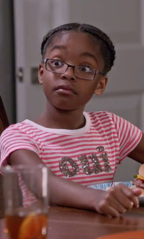 Marsai Martin with J.Crew Girls' Oui-Non Sequin T-Shirt in Black-ish