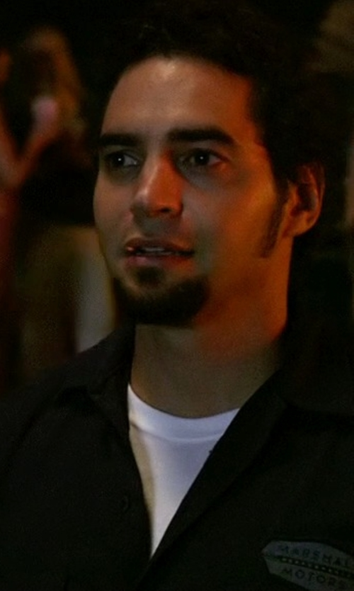 Ramon Rodriguez with Dsquared2 Crew Neck T-Shirt in Need for Speed