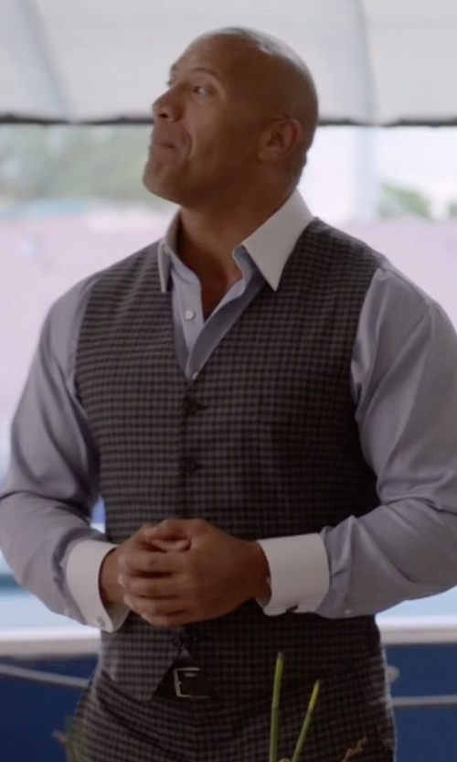 Dwayne Johnson with W.Kleinberg Basic Leather Belt in Ballers
