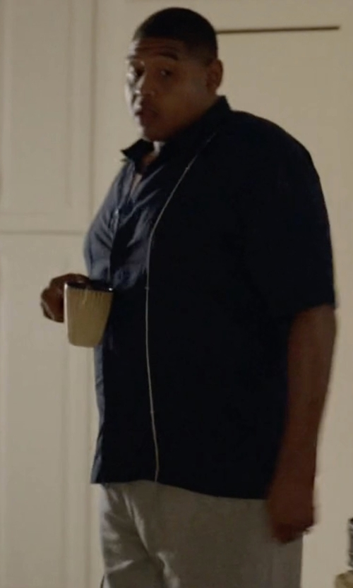 Omar Benson Miller with Armani Jeans Cotton Sweatpants in Ballers