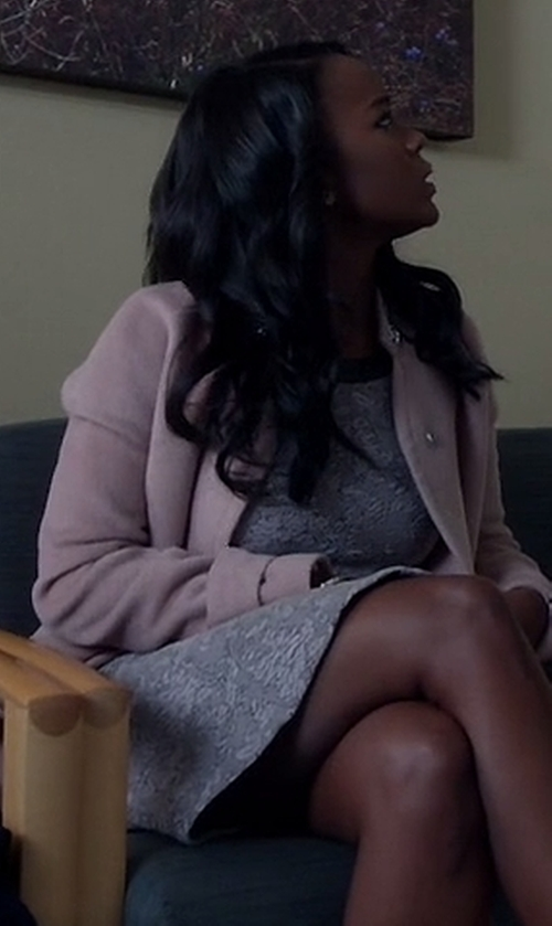 Aja Naomi King with Tory Burch Print Sleeveless A-Line Dress in How To Get Away With Murder