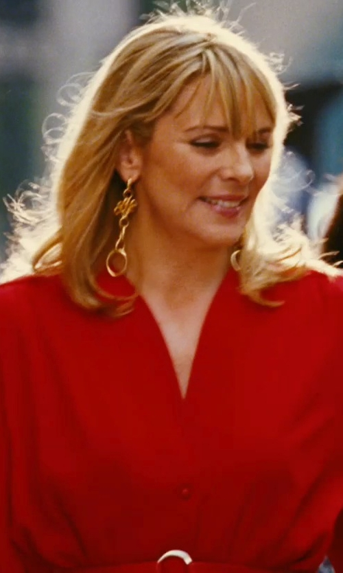 Kim Cattrall with Thierry Mugler Red Jacket in Sex and the City