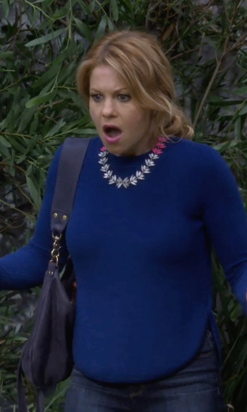 Candace Cameron Bure with Lipault Paris Hobo Bag in Fuller House