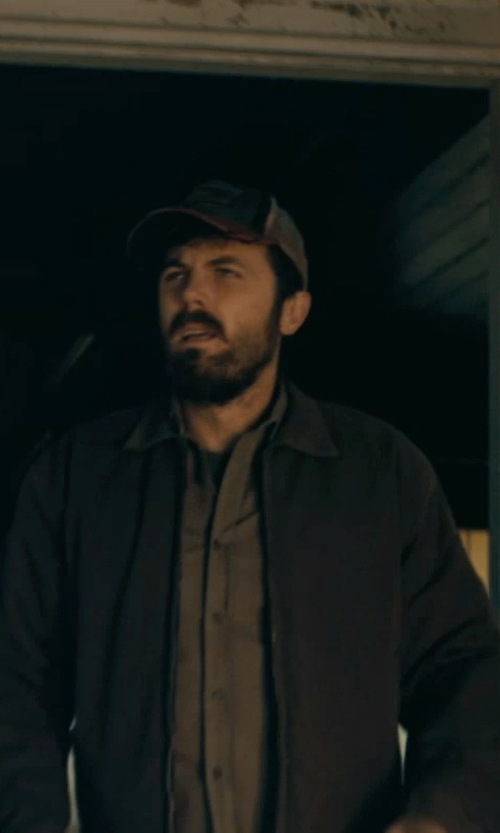Casey Affleck with American Rag Milli Solid Two-Pocket Shirt in Interstellar
