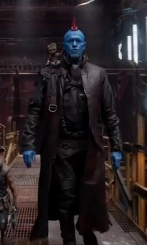 Michael Rooker with Judianna Makovsky (Costume Designer) Custom Made Yondu Udonta Costume in Guardians of the Galaxy Vol. 2