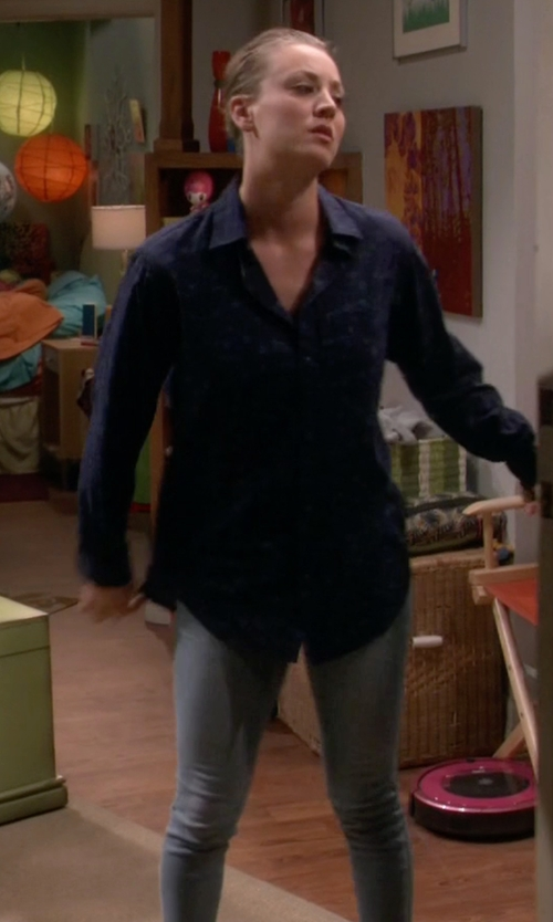 Kaley Cuoco-Sweeting with Kut from the Kloth 'Diana' Stretch Skinny Jeans in The Big Bang Theory