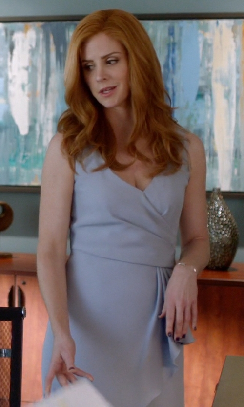 Sarah Rafferty with Nadri Station Cuff Bracelet in Suits