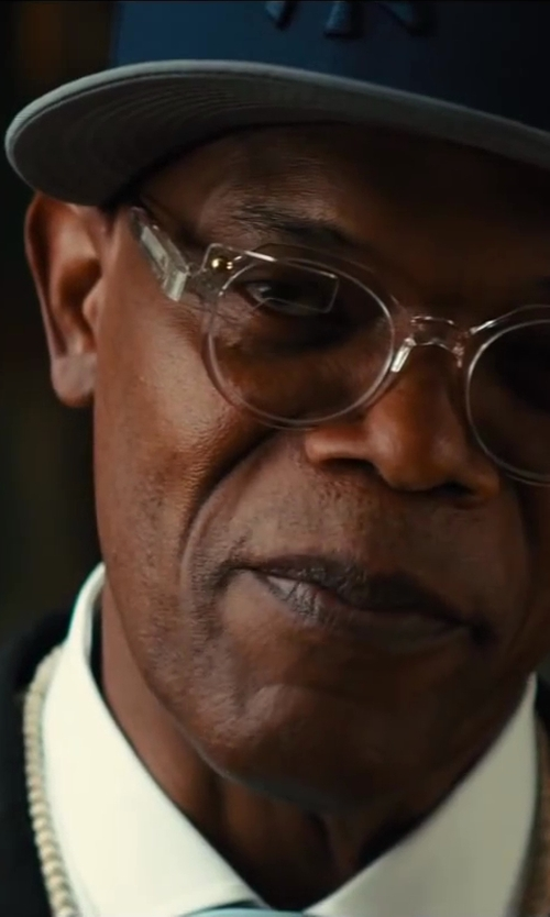 Samuel L. Jackson with Brioni	 Contrast-Collar Striped Dress Shirt in Kingsman: The Secret Service