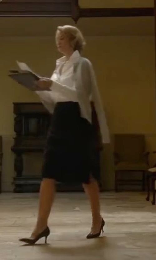 Janet McTeer with Jaeger Colette Pencil Skirt in Me Before You