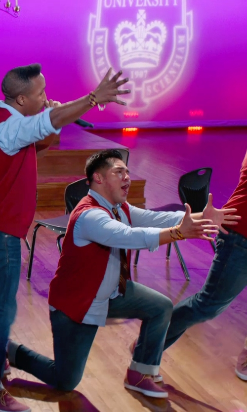 Unknown Actor with Rag & Bone Slim Straight Raw Selvedge Jeans in Pitch Perfect 2