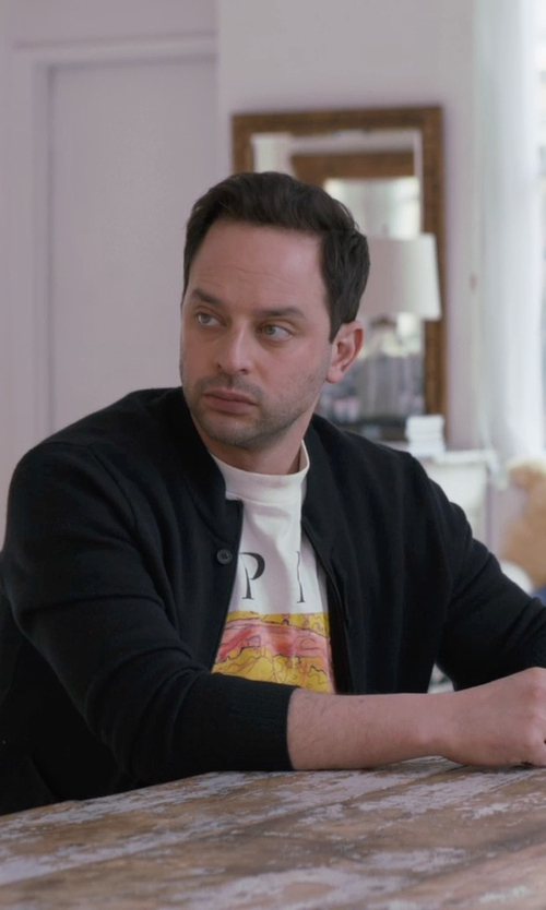 Nick Kroll with BPM Fueled by Zella Flex Fit Athletic Bomber Jacket in Adult Beginners