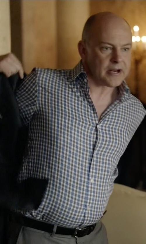 Rob Corddry with Allen-Edmonds Wide Basic Dress Belt in Ballers