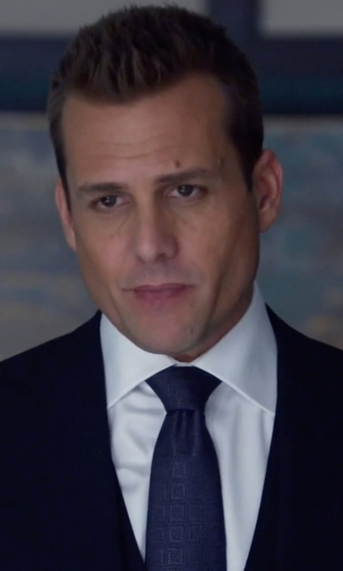 Gabriel Macht with Armani Collezioni Dotted Grid Box-Pattern Tie in Suits
