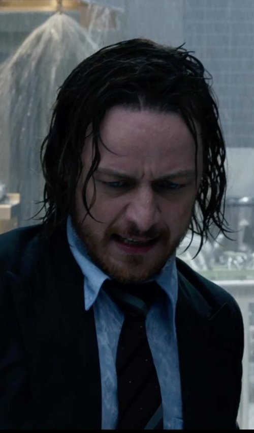 James McAvoy with Ralph Lauren Solid Silk Tie in X-Men: Days of Future Past