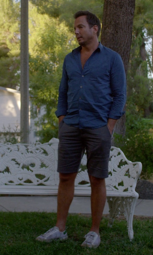 Will Arnett with Adidas Originals Rod Laver Sneakers in Flaked