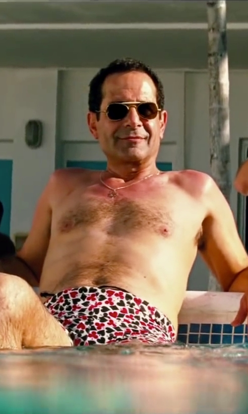 Tony Shalhoub with Invicta Pro Diver Chronograph Silver Dial Gold-Plated Mens Watch in Pain & Gain