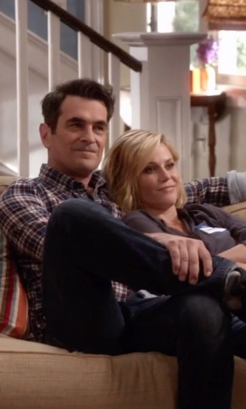 Ty Burrell with Don The Fuller Straight Leg Denim Pants in Modern Family