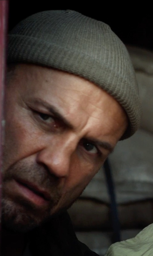 Randy Couture with Diesel Ribbed Knit Beanie Hat in The Expendables 3