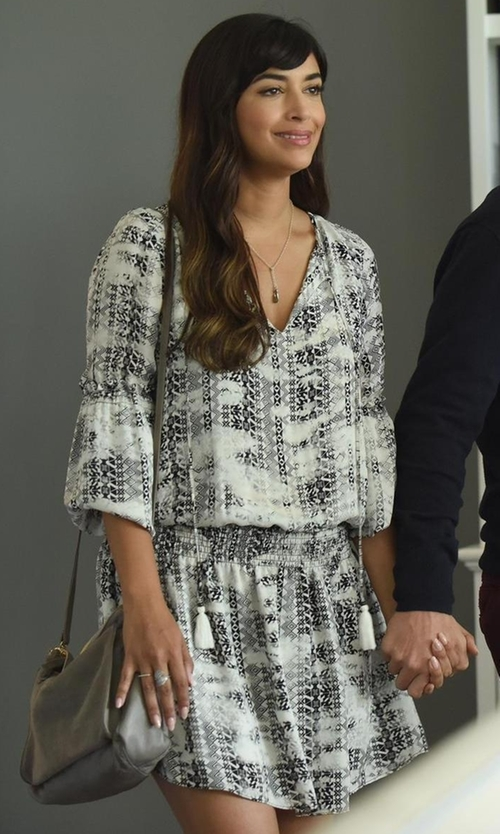 Hannah Simone with Parker Maeve Dress in New Girl