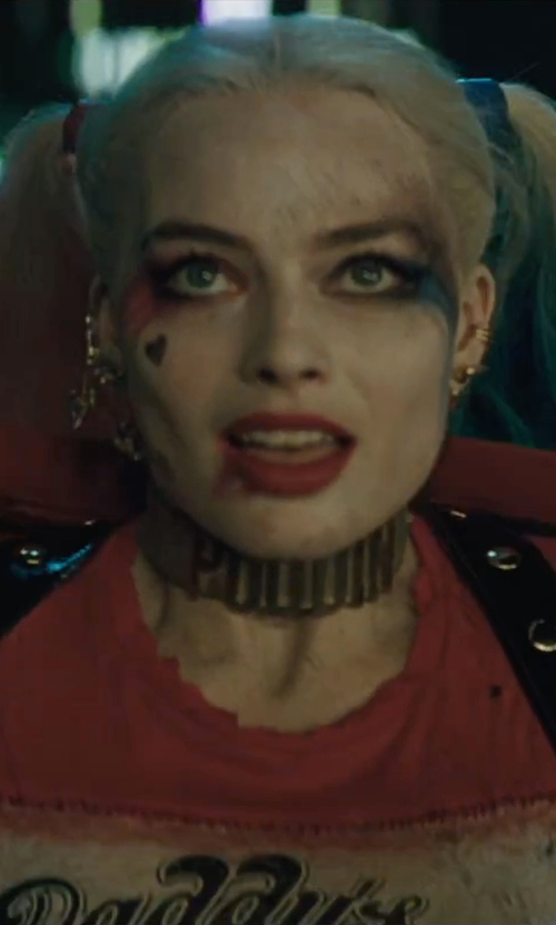 Margot Robbie with Harry Mason Gold-Filled Earcuff in Suicide Squad