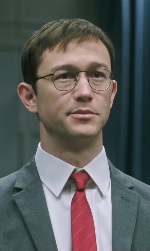 Joseph Gordon-Levitt with Tagliatore Formal Suit in Snowden
