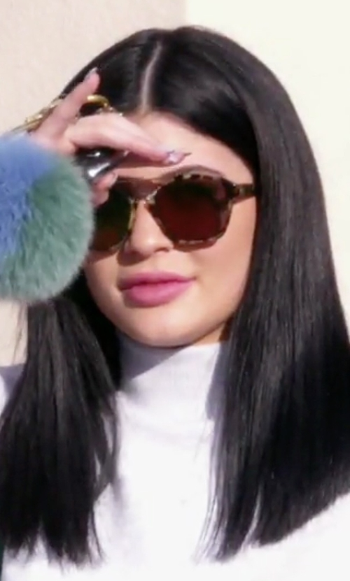 Kylie Jenner with Dior Abstract Square Sunglasses in Keeping Up With The Kardashians