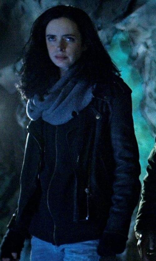 Krysten Ritter with Sweaty Betty Shoreline Full Zip Hoodie in Marvel's The Defenders