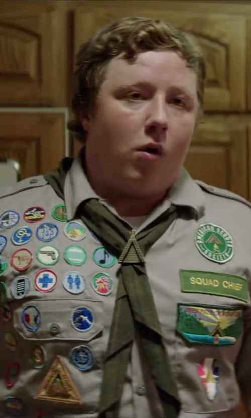 Joey Morgan with BSA Neckerchief in Scout's Guide to the Zombie Apocalypse