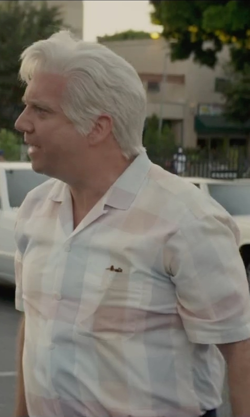 Dean Cameron with Sean John Dobby Checked Shirt in Straight Outta Compton