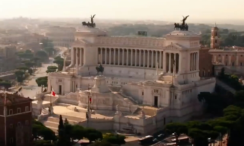 Unknown Actor with Altare della Patria Rome, Italy in Zoolander 2