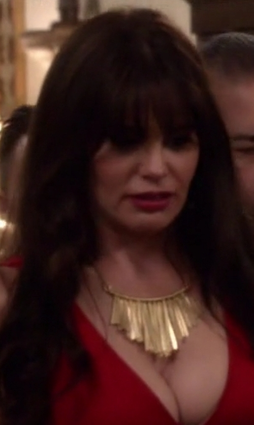 Lucila Sola with Soko Brass Fringe Necklace in Modern Family