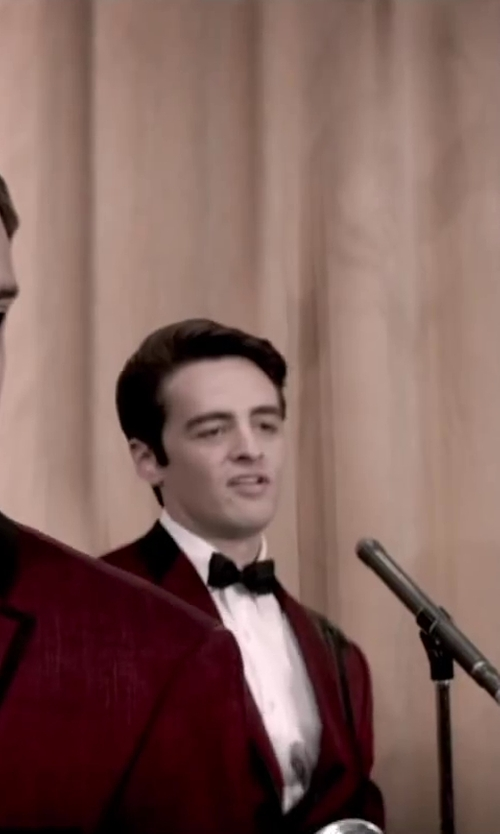 Vincent Piazza with Aliexpress New fashion Menswear Red Peak Lapel tuxedo in Jersey Boys