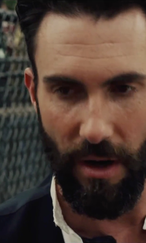 Adam Levine with Ermenegildo Zegna Regular Fit Solid Dress Shirt in Begin Again