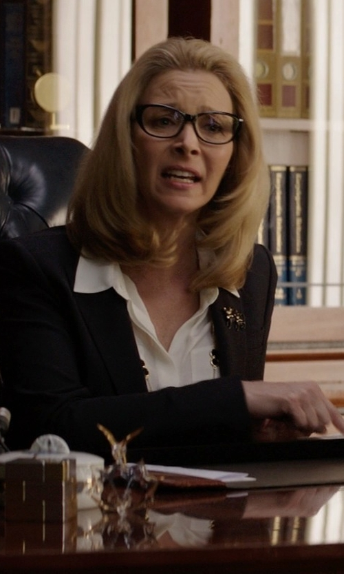 Lisa Kudrow with Hugo Boss HB0470 807 Black Prescription Eyeglasses in Neighbors