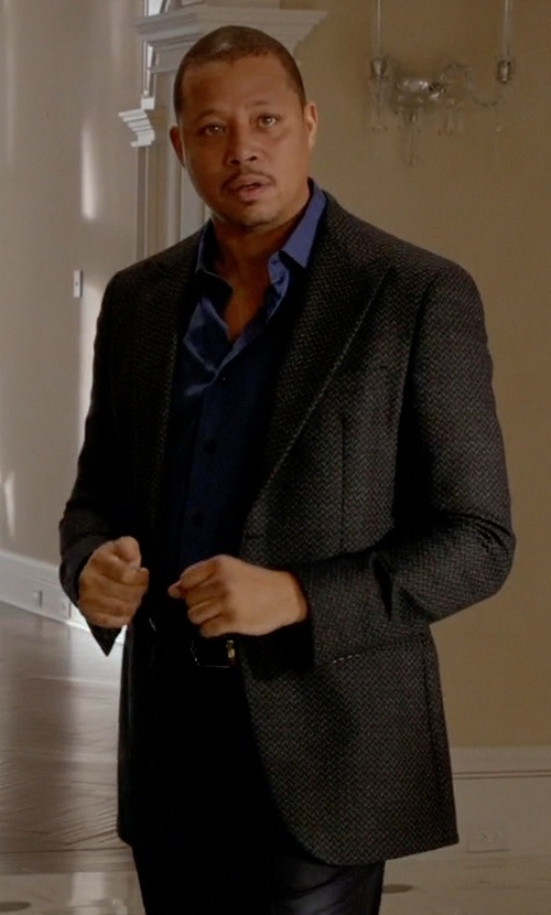 Terrence Howard  with Tiger of Sweden Houndstooth Two Button Peak Lapel Suit Jacket in Empire