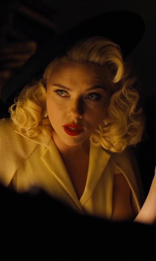 Scarlett Johansson with Maison Michel Fara Classic Felt Hat in Hail, Caesar!