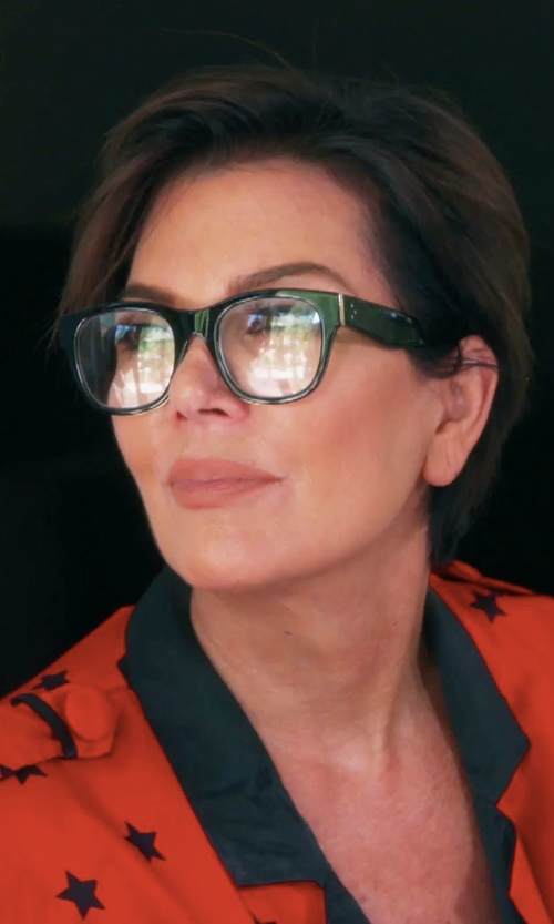 Kris Jenner with Oliver Peoples The Row 71st Street Square Optical Glasses in Keeping Up With The Kardashians