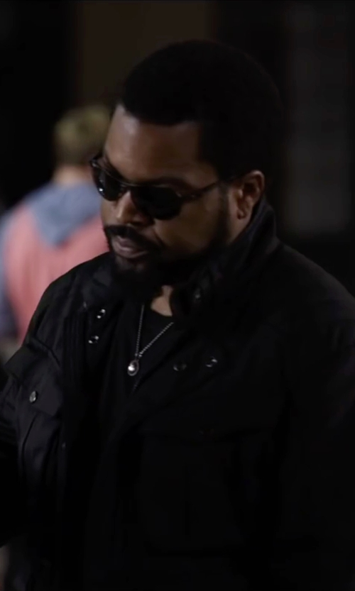 Ice Cube with Stone Island Buttoned Cargo Jacket in Ride Along 2